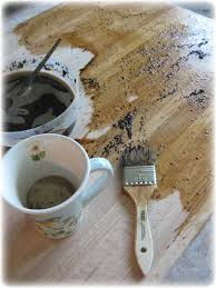 pumpkin pie painter my coffee stained chain beaten wooden and began to paint it on the counter top