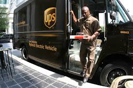 electric company truck delivery company ups is converting its diesel trucks into electric