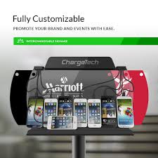 Recharge Station Floor Stand Phone Charging Power Kiosk Tower Chargetech