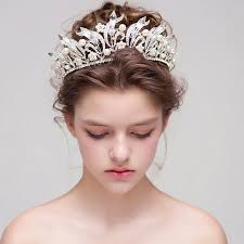 bridal crowns big bridal crowns white pearl wedding tiaras and crowns