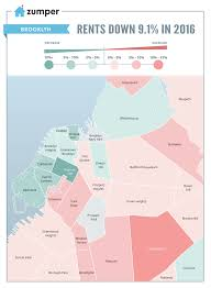 New York Boroughs Map by New York City Rent Prices Decreased 9 1 In 2016 The Zumper Blog