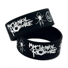 rubber power bracelet images Punk rock my chemical romance silicone wristband show your support jpg