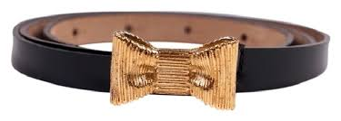 gold bow belt kate spade black leather with gold bow belt tradesy