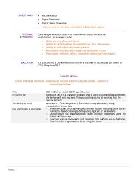 Electronic Resume Example by Embedded Systems Course Student Resume Template