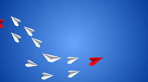 paper plane he makes an airplane from paper but the plane turns to