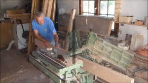Etabli De Menuisier Ancien En Bois Fabrication D U0027une Table Monastère Youtube