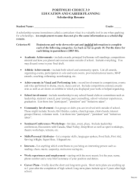 resume for college scholarship interviews resume for scholarship high academic interview vesochieuxo