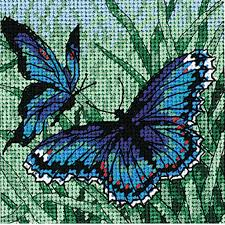 dimensions needlepoint kit butterfly duo