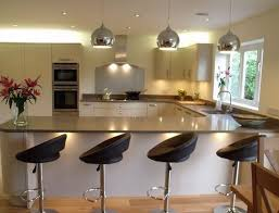 bar in kitchen ideas enchanting breakfast bar kitchen and u shaped kitchen designs with