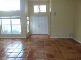 terracotta tiled floor salisbury after cleaning and