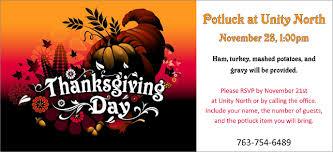 thanksgiving potluck unity spiritual center