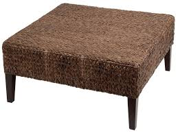 wonderful rattan ottoman mixed with contemporary style