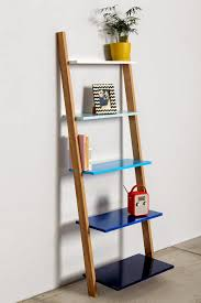 terrific white leaning shelf 41 white 3 piece leaning ladder shelf