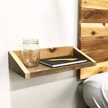 modern wood rustic modern wood floating tray end table shelf made in usa