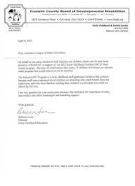 thank you letters assistance league metro columbus