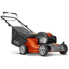 shop husqvarna lc221a 163cc 21 in self propelled all wheel drive