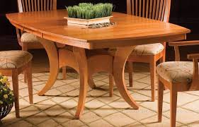 New England Maple Dining Table With Deluxe Pedestal - Maple kitchen table