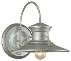 Galvanized Wall Sconce Norwell Lighting Budapest Large Outdoor Wall Sconce Farmhouse
