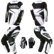 motocross pants and jersey combo o neal element black white motocross mx dirtbike gear jersey pants
