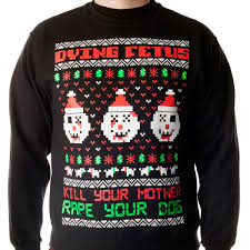 sweater with dogs on it dying fetus sweater crewneck sweatshirt dying fetus