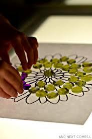 Flower Table L Flower Mandalas On The Light Table Light Reflections Series