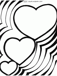 printable heart coloring pages for kids page hearts only
