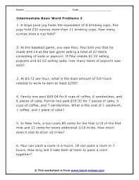 best solutions of multi step word problems worksheets with job