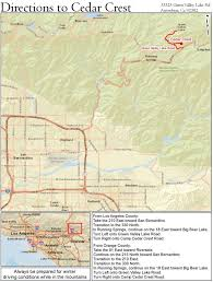 Map Of San Bernardino California Location Emerald Cove Outdoor Science Institute