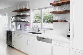 Overhead Kitchen Cabinets White Flat Front Kitchen Cabinets With Gray Quartz Counters And