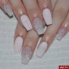 glitter nails blush pink nails pinterest glitter nails