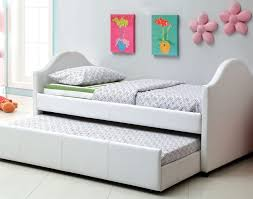 daybed white leather twin trundle bed for stunning bedroom
