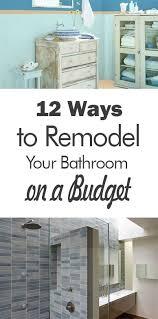 Small Bathroom Makeover Ideas On A Budget - the 25 best cheap bathroom remodel ideas on pinterest diy