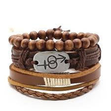 cuff bracelet styles images Cuff wrap leather charm bracelets for men women 9 styles jpg