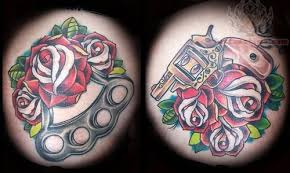 pistol and rose tattoo
