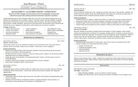 Resume Of Customer Service Manager Resume Examples For Customer Service Manager Free Resume Example