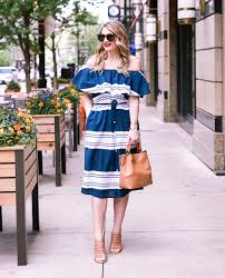 Nautical Theme Dress - a dress a day memorial day dress day 14 visions of vogue