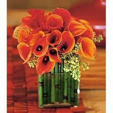 Calla Lily Flower Delivery - bronze calla lily design miniature bronze callas with equisetum