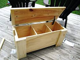 Outdoor Storage Bench How To Build A Diy Outdoor Storage Bench With Free Plans By Jen