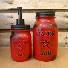 vintage red mason jar canisters rustic red canister set