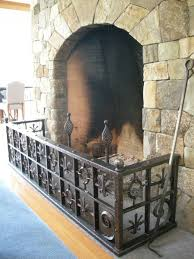 hand crafted old world style fireplace guard by benjamin leavitt