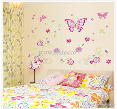 Flower Wall Decor Large Paper Flowers Decorative Butterfly Wall Stickers Home Decor