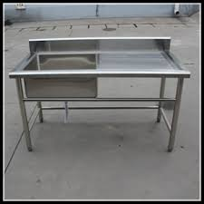 Kitchen Utility Tables - assembly kitchen stainless steel sink work table mobile kitchen