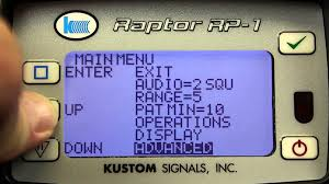kustom signals raptor rp 1 demonstration youtube