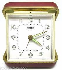 mechanical desk clock cool vintage retro style seiko travel alarm mechanical desk clock