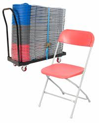 Flat Folding Chair Exam Flat Back Folding Chair Trolley
