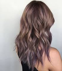shag haircut brown hair with lavender grey streaks medium layered hairstyles for thick hair ash pearl and lilac