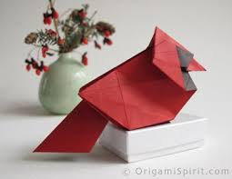 origami northern cardinal step by step to fold a