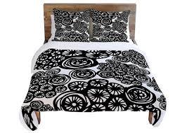 Black Duvet Covers 15 Black And White Bedding Sets Home Design Lover