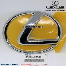 lexus is300 front grill emblem new genuine oem lexus chrome front grille emblem 90975 02082 75311