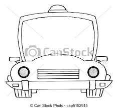 clipart vector outlined cartoon police car coloring